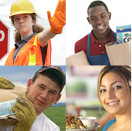 Various jobs for teenagers full-time or part-time.